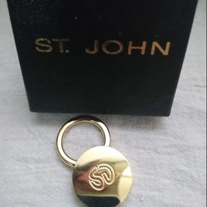 St. John Gold Keychain New With Box